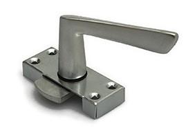 Raamsluiting met greep rechtshandig  staal verzinkte kast met 4 schroefgaten aluminium greep