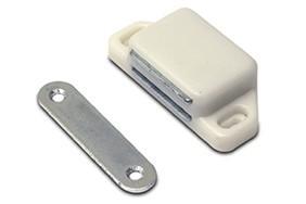 Magneetsnapper metalen tegenplaat 8 kg wit