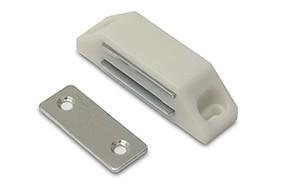 Magneetsnapper metalen tegenplaat 6 kg wit