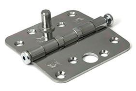 Kogellagerscharnier ronde hoeken 89x89 mm verzinkte pen staal verzinkt SKG***