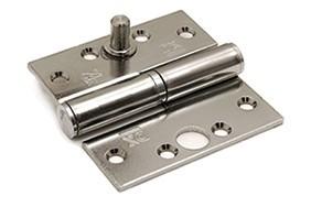 Kogelstiftpaumelle rechte hoeken 89x89 mm doorgezette knoop links staal verzinkt  SKG ***