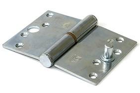 Kogelstiftpaumelle rechte hoeken 89x125 mm links staal verzinkt SKG ***