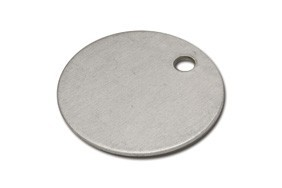 Sleutellabel 30 mm aluminium zak  100 stuks