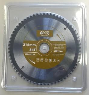 HM Zaagblad 216 x (2,8/2,2) 64T asgat 30 voor aluminium